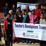 all teacher taking picture after Teacher training in Nepal