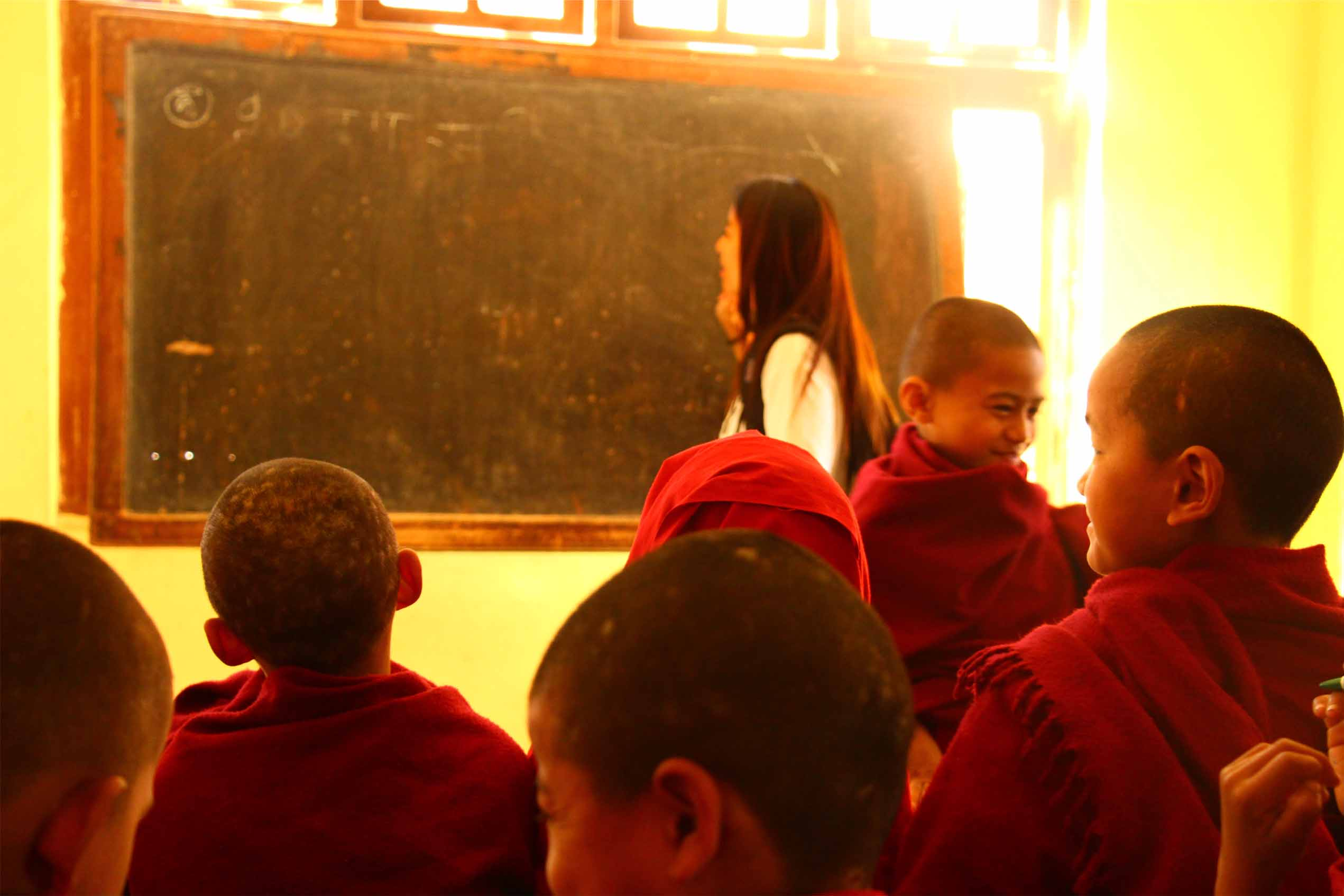 Teaching English at buddhist monastery