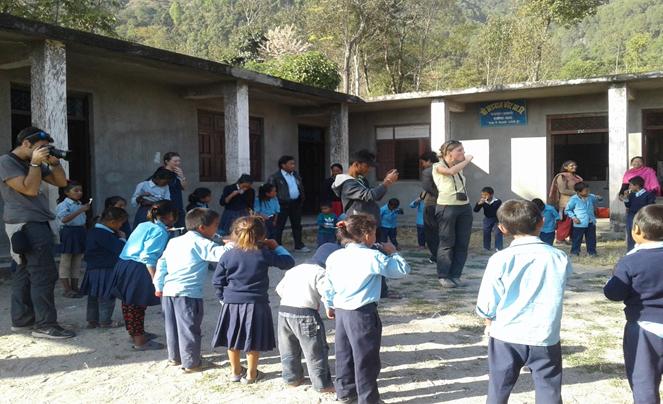Volunteer of VIN conducting total sanitaion program at school of jitpurphedi