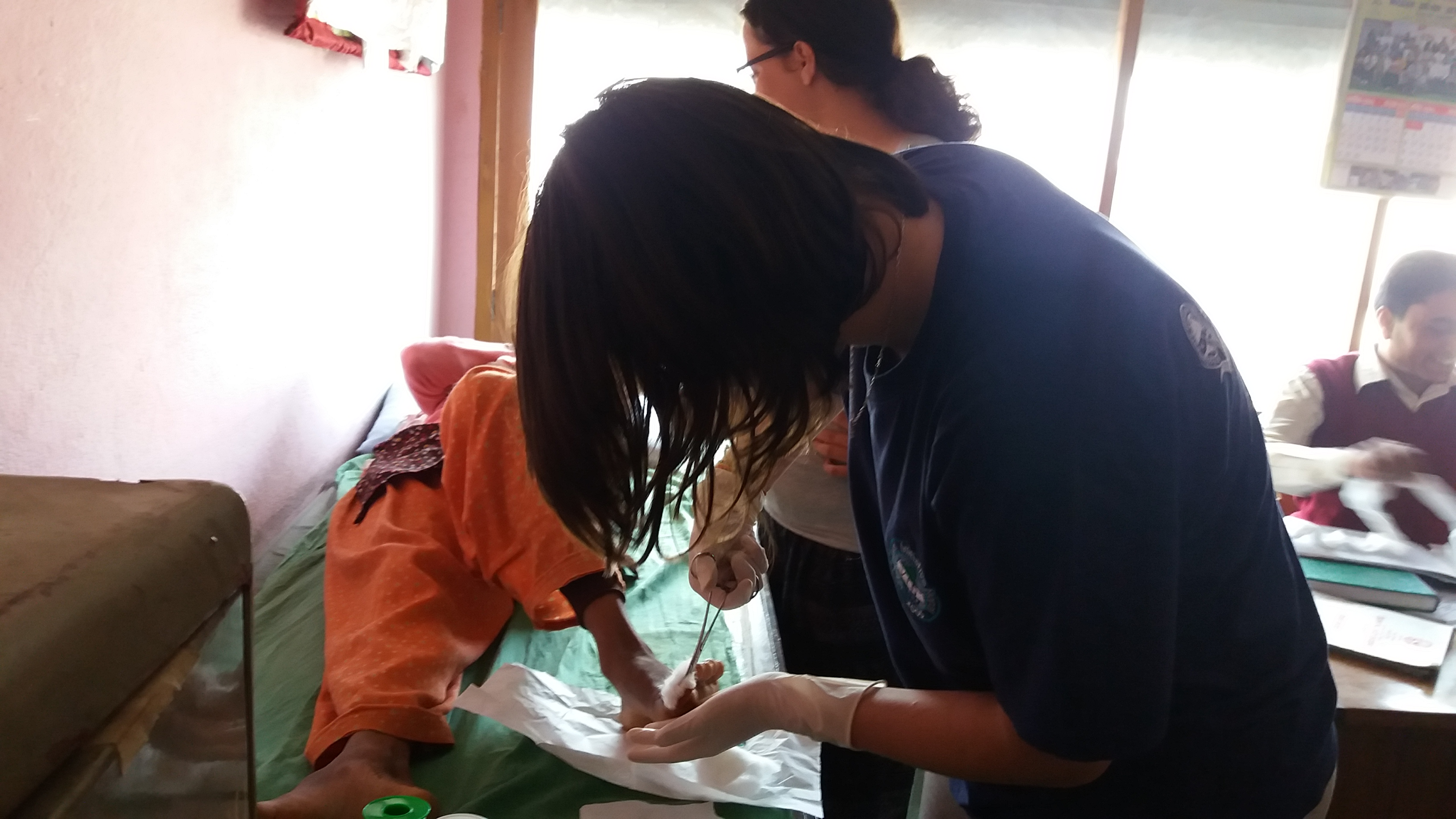 VIN's health volunteer providing free medical checkup in Kavresthali