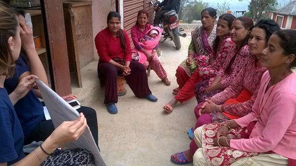 Self-esteem awareness campaign for community women in Kavresthali - volunteeringnepal