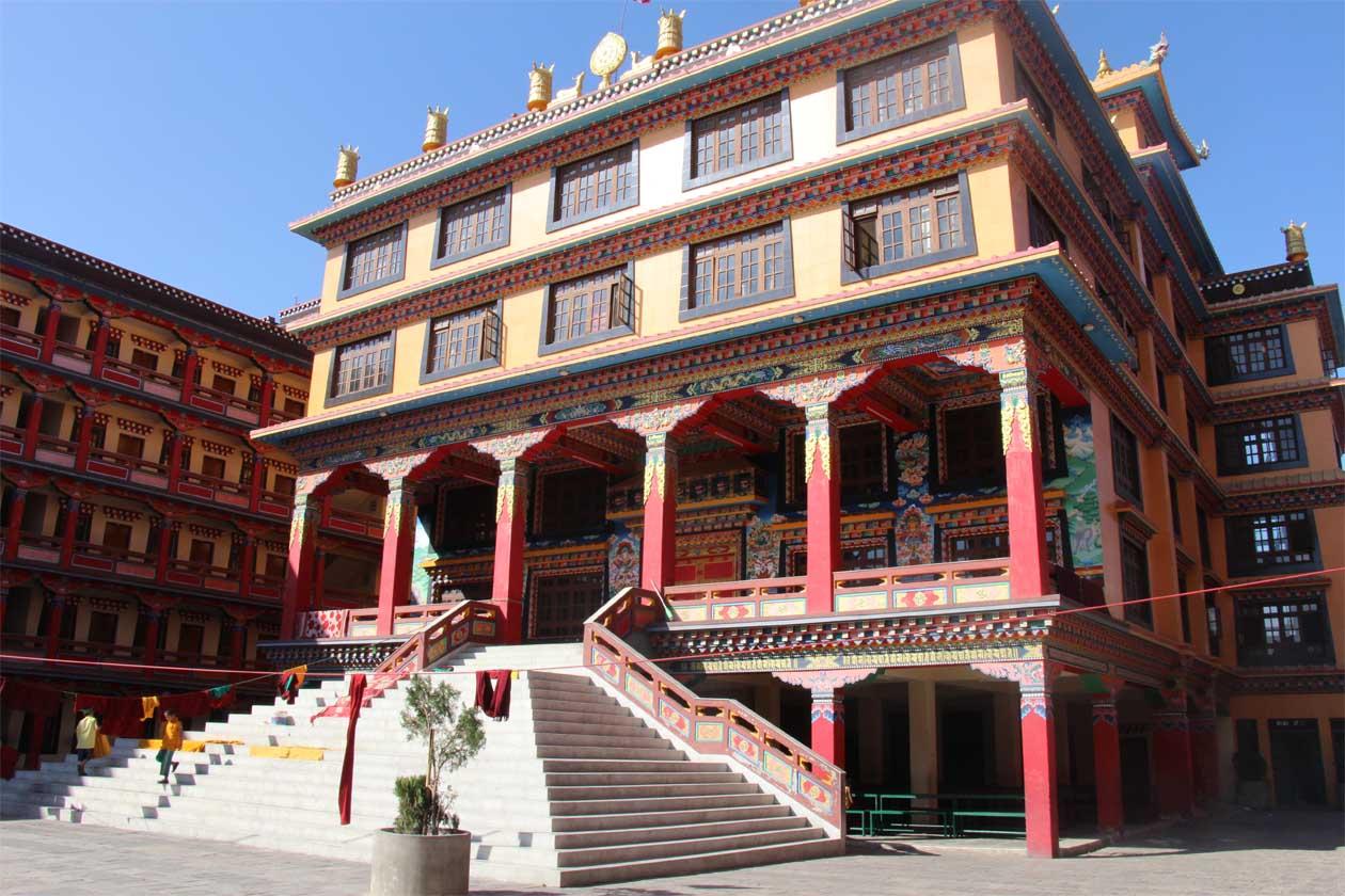 Natalia at Buddhist Monastery