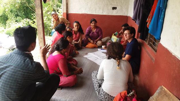 VIN volunteers giving training on organic farming