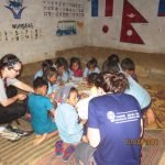 Volunteers working for school development and education project at Okhaldhunga