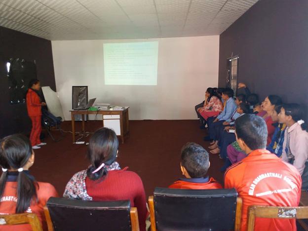 VIN conducting managemant training for Child club Facilitators Teacher