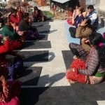Volunteer Teaching Yoga in the community