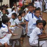 children at community school