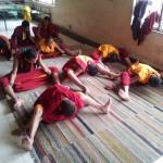 yoga at monastery