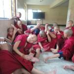 yoga in monastery