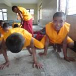 yoga training class