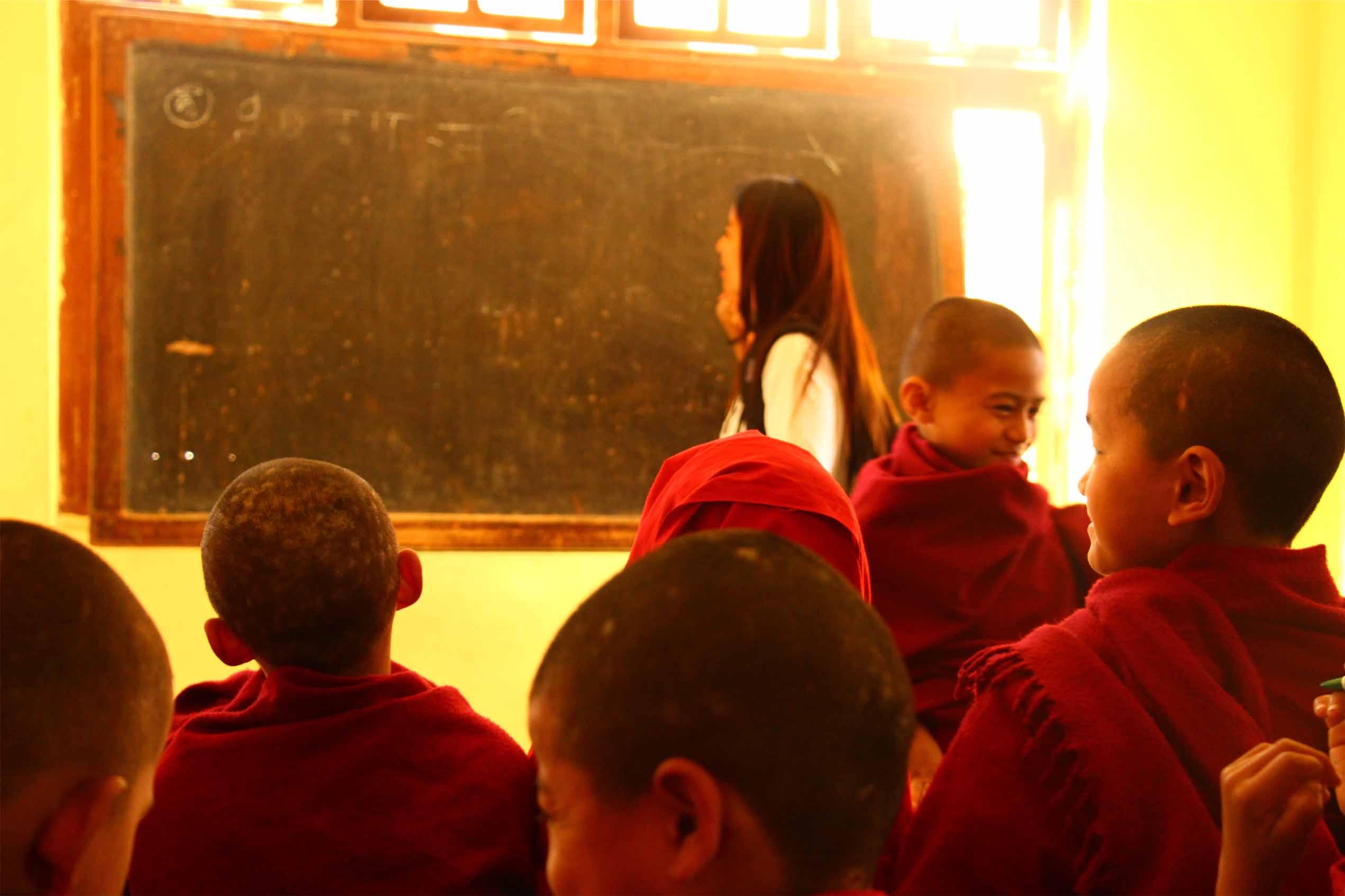 Teaching English at buddhist monastery