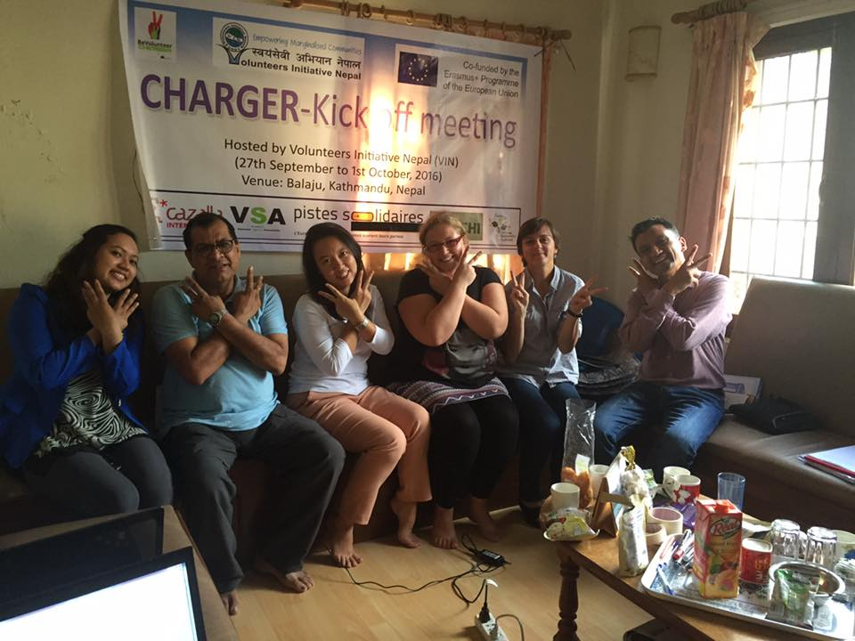 VIN hosting the meeting of charger project with partner organizations