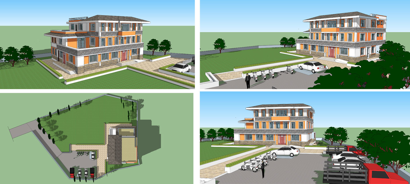 Community Learning center design that is to be constructed at okhaldhunga