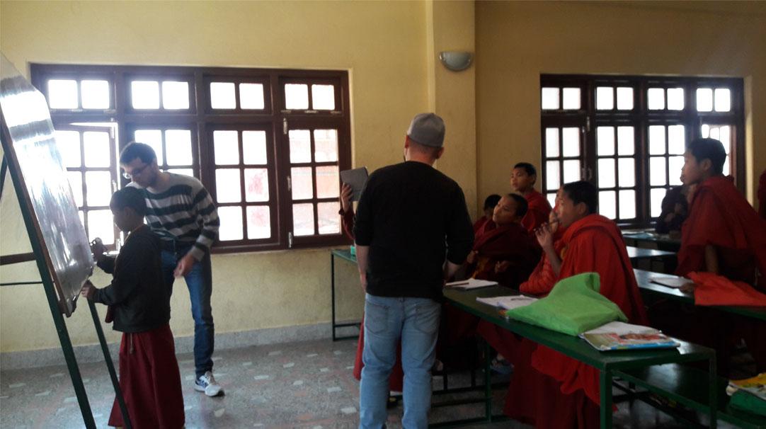 Volunteers at Teaching Buddhist Monastery