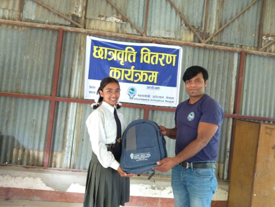Sponsorship Materials Distribution 2019 - volunteeringnepal